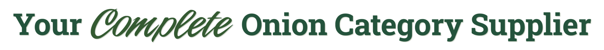 Your Complete Onion Category Supplier